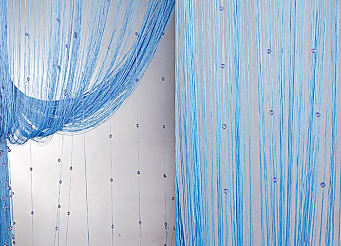 Штора нитяная Magnolia Кисея, цвет: синий, высота 300 см. XLF SJ 1154684Декоративная нитяная штора для дизайнерских решений в вашем доме. Подходит как для зонирования пространства, а так же декорации окна, как самостоятельное решение или дополнение к шторам.