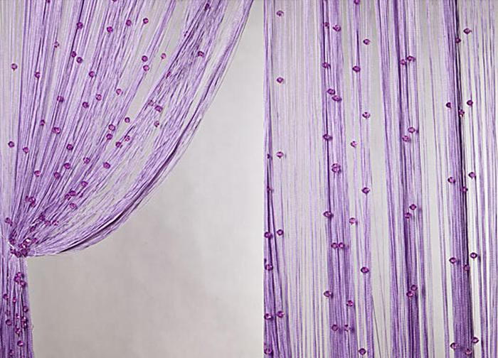 Штора нитяная Magnolia Кисея, цвет: фиолетовый, высота 300 см. XLF SJ 1254685Декоративная нитяная штора для дизайнерских решений в вашем доме. Подходит как для зонирования пространства, а так же декорации окна, как самостоятельное решение или дополнение к шторам.