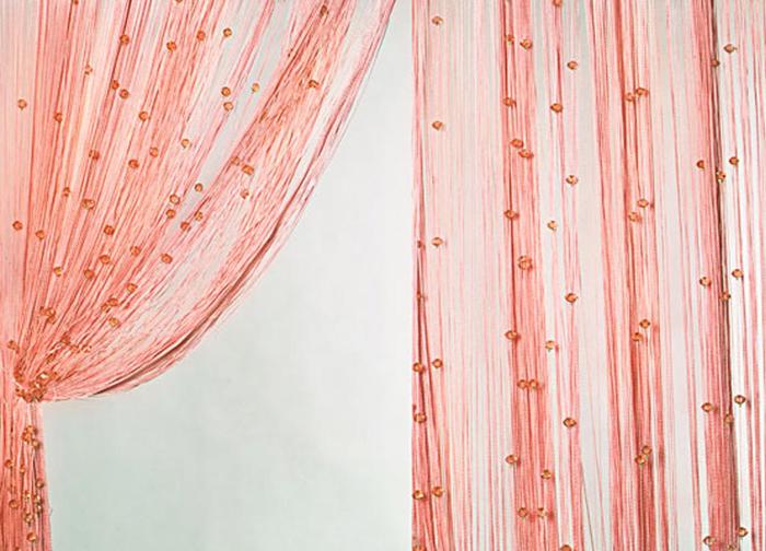 Штора нитяная Magnolia Кисея, цвет: персиковый, высота 300 см. XLF SJ 054689Декоративная нитяная штора для дизайнерских решений в вашем доме. Подходит как для зонирования пространства, а так же декорации окна, как самостоятельное решение или дополнение к шторам.