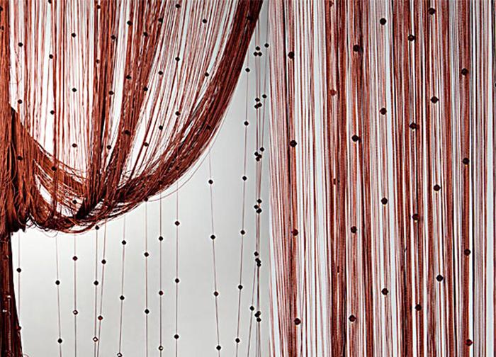 Штора нитяная Magnolia Кисея, цвет: коричневый, высота 300 см. XLF SJ 0854691Декоративная нитяная штора для дизайнерских решений в вашем доме. Подходит как для зонирования пространства, а так же декорации окна, как самостоятельное решение или дополнение к шторам.