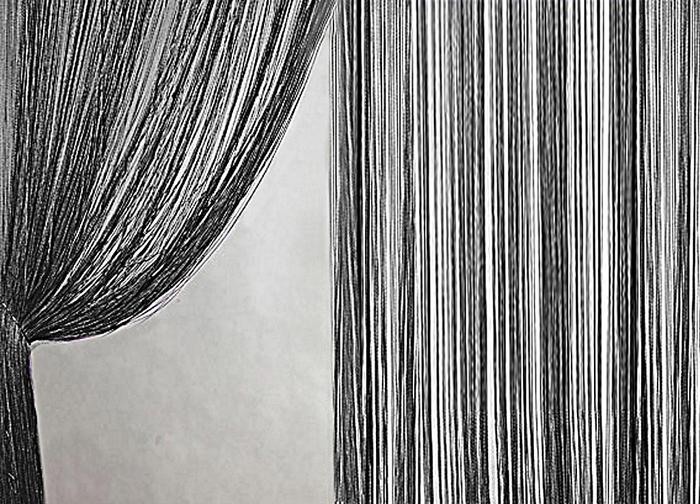 Штора нитяная Magnolia Кисея, цвет: черный, высота 300 см. XLF DS 0959801Декоративная нитяная штора для дизайнерских решений в вашем доме. Подходит как для зонирования пространства, а так же декорации окна, как самостоятельное решение или дополнение к шторам.