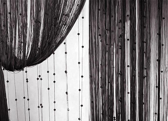 Штора нитяная Magnolia Кисея, цвет: черный, высота 300 см. XLF SJ 0959802Декоративная нитяная штора для дизайнерских решений в вашем доме. Подходит как для зонирования пространства, а так же декорации окна, как самостоятельное решение или дополнение к шторам.