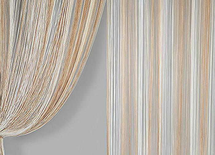 Штора нитяная Magnolia Кисея, цвет: белый, бежевый, высота 300 см. XLF JGS 12359832Декоративная нитяная штора для дизайнерских решений в вашем доме. Подходит как для зонирования пространства, а так же декорации окна, как самостоятельное решение или дополнение к шторам.