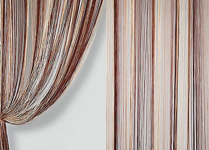 Штора нитяная Magnolia Кисея, цвет: коричневый, бежевый, высота 300 см59835Штора нитяная Magnolia Кисея, выполненная из 100% полиэстера, подходит как для зонирования пространства, так и для декорации окна, как самостоятельное решение или дополнение к шторам. Такая штора великолепно дополнит интерьер вашего дома и станет отличным дизайнерским решением.