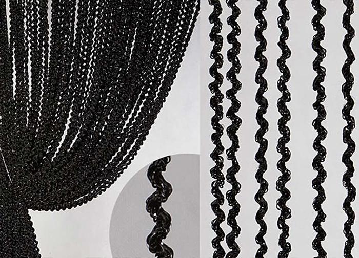 Штора нитяная Magnolia Кисея, цвет: черный, высота 300 см. XLF LWL-960418Декоративная нитяная штора для дизайнерских решений в вашем доме. Подходит как для зонирования пространства, а так же декорации окна, как самостоятельное решение или дополнение к шторам.
