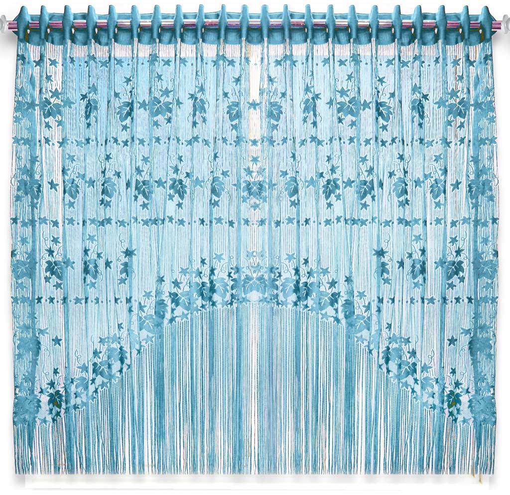 Штора нитяная Magnolia Кисея, цвет: голубой, высота 155 см. CQ M 90006(11)68576Декоративная нитяная штора для дизайнерских решений в вашем доме. Подходит как для зонирования пространства, а так же декорации окна, как самостоятельное решение или дополнение к шторам.