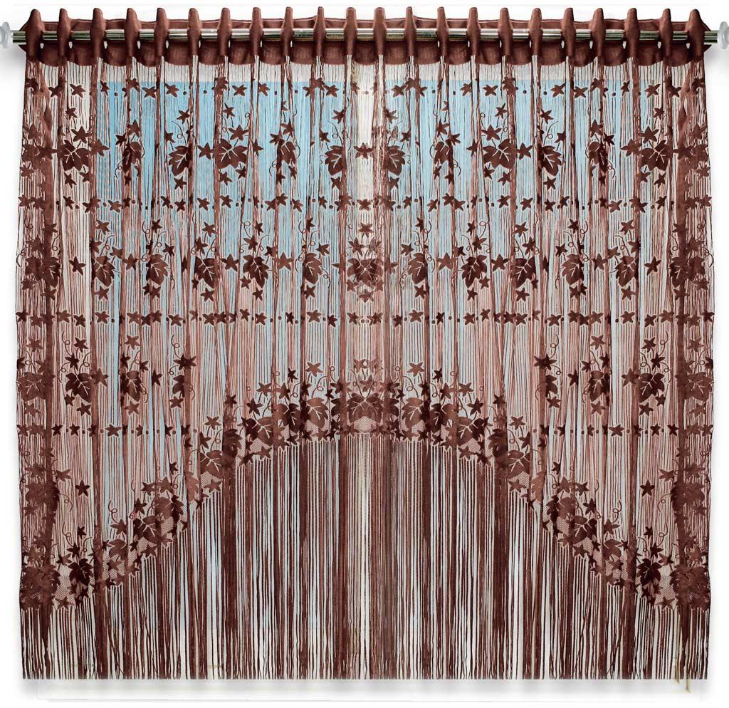Штора нитяная Magnolia Кисея, цвет: коричневый, высота 155 см. CQ M 90006(204)68580Декоративная нитяная штора для дизайнерских решений в вашем доме. Подходит как для зонирования пространства, а так же декорации окна, как самостоятельное решение или дополнение к шторам.