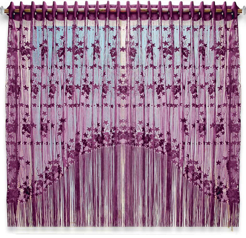 Штора нитяная Magnolia Кисея, цвет: бордовый, высота 155 см. CQ M 90006(205)68581Декоративная нитяная штора для дизайнерских решений в вашем доме. Подходит как для зонирования пространства, а так же декорации окна, как самостоятельное решение или дополнение к шторам.