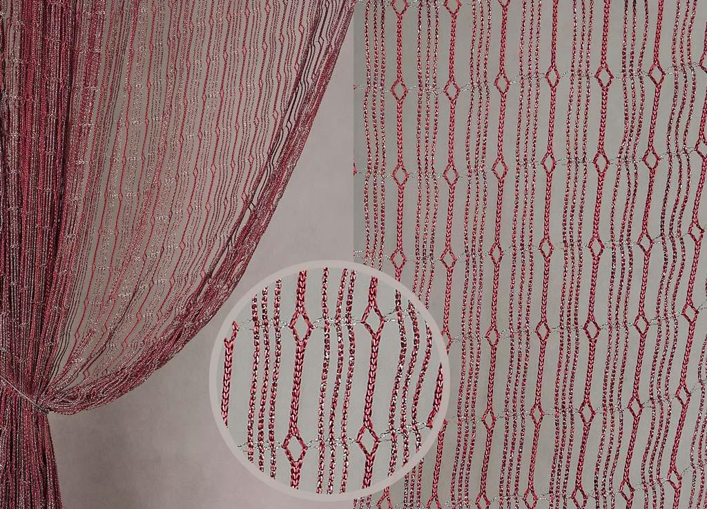Штора нитяная Magnolia Кисея, цвет: бордовый, высота 300 см. XLF JW-9808-469337Декоративная нитяная штора для дизайнерских решений в вашем доме. Подходит как для зонирования пространства, а так же декорации окна, как самостоятельное решение или дополнение к шторам.