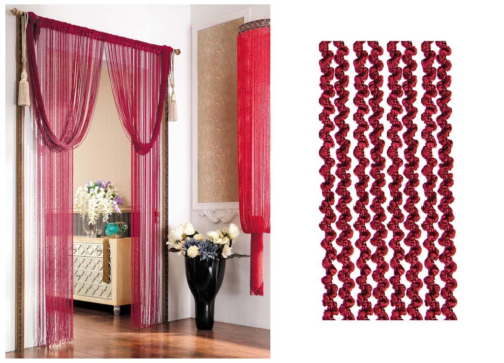 Штора нитяная Magnolia Кисея, цвет: красный, высота 290 см. CQ X055-473625Декоративная нитяная штора для дизайнерских решений в вашем доме. Подходит как для зонирования пространства, а так же декорации окна, как самостоятельное решение или дополнение к шторам.