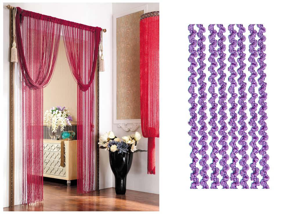 Штора нитяная Magnolia Кисея, цвет: фиолетовый, высота 290 см. CQ X055-1273627Декоративная нитяная штора для дизайнерских решений в вашем доме. Подходит как для зонирования пространства, а так же декорации окна, как самостоятельное решение или дополнение к шторам.