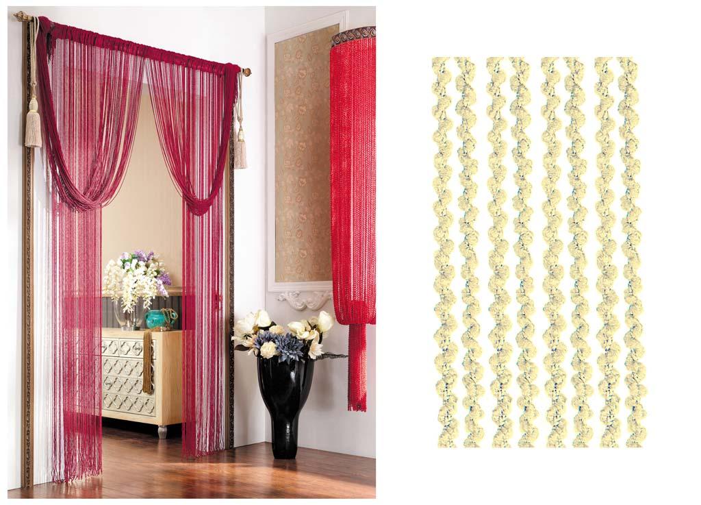 Штора нитяная Magnolia Кисея, цвет: желтый, высота 290 см. CQ X055-1373628Декоративная нитяная штора для дизайнерских решений в вашем доме. Подходит как для зонирования пространства, а так же декорации окна, как самостоятельное решение или дополнение к шторам.