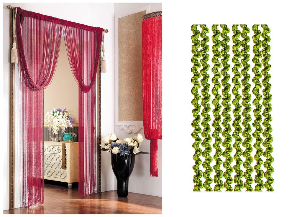 Штора нитяная Magnolia Кисея, цвет: зеленый, высота 290 см. CQ X055-1973630Декоративная нитяная штора для дизайнерских решений в вашем доме. Подходит как для зонирования пространства, а так же декорации окна, как самостоятельное решение или дополнение к шторам.