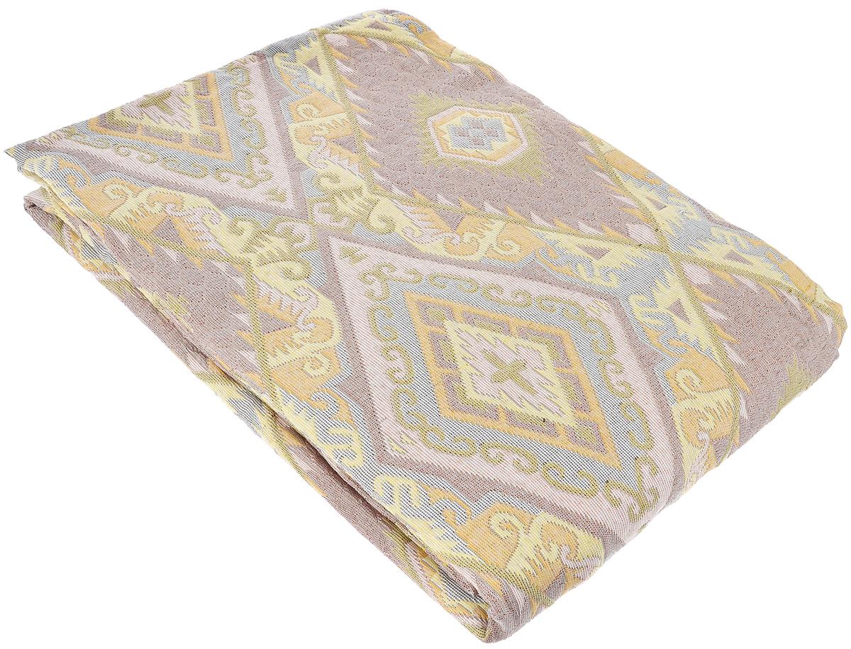 Покрывало Arya Tay-Pen, цвет: светло-желтый, светло-розовый, белый, 240 х 240 см. TR1001432TR1001432Покрывало Arya Tay-Pen прекрасно оформит интерьер спальни или гостиной. Изделие изготовлено из 100% хлопка. Жаккардовые покрывала уникальны, так как они практичны и универсальны в использовании. Жаккардовые ткани хорошо сохраняют окраску, слабо подвержены влиянию перепадов температур. Своеобразный рельефный рисунок, который получается в результате сложного переплетения на плотной ткани, напоминает гобелен. Изделие долговечно, надежно и легко стирается. Покрывало Arya Tay-Pen не только подарит тепло, но и гармонично впишется в интерьер вашего дома.