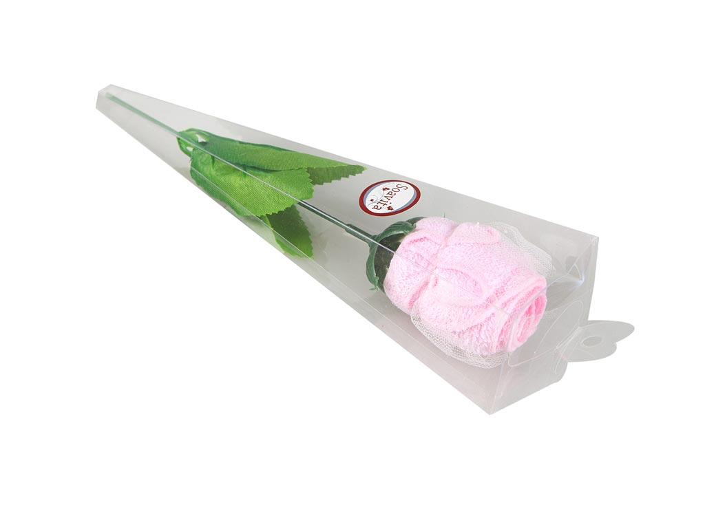 Салфетка Soavita Роза, 20х20 см, цвет: розовый74781Перед использованием постирать при температуре не выше 40 градусов