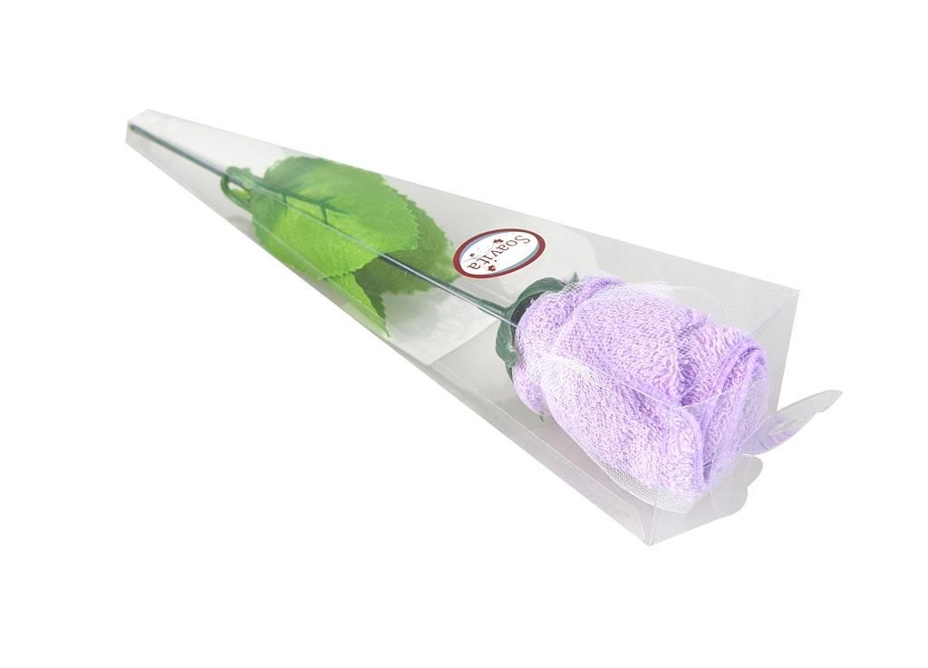 Салфетка кухонная Soavita Роза, цвет: сиреневый, 20 х 20 см74782Кухонная салфетка Soavita Роза выполнена из высококачественного 100% хлопка. Идеально подходит для сухой и влажной чистки. Полностью удаляет воду, не оставляя следа. В сухом виде подходит для деликатных поверхностей: стекол, зеркал, оптики, мониторов, мебели, бытовой техники и многого другого. Во влажном виде незаменима на кухне, в ванной, в уходе за автомобилем. Изделие упаковано в пластиковую коробку в виде изящной розы. Салфетка создаст прекрасное настроение и украсит интерьер вашей кухни, а также прекрасно подойдет в качестве приятного презента. Перед использованием постирать при температуре не выше +40°С.