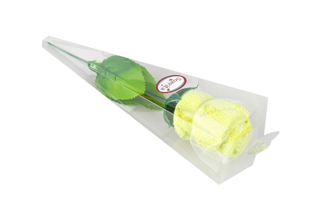 Салфетка Soavita Роза, 20х20 см, цвет: фисташка74784Перед использованием постирать при температуре не выше 40 градусов