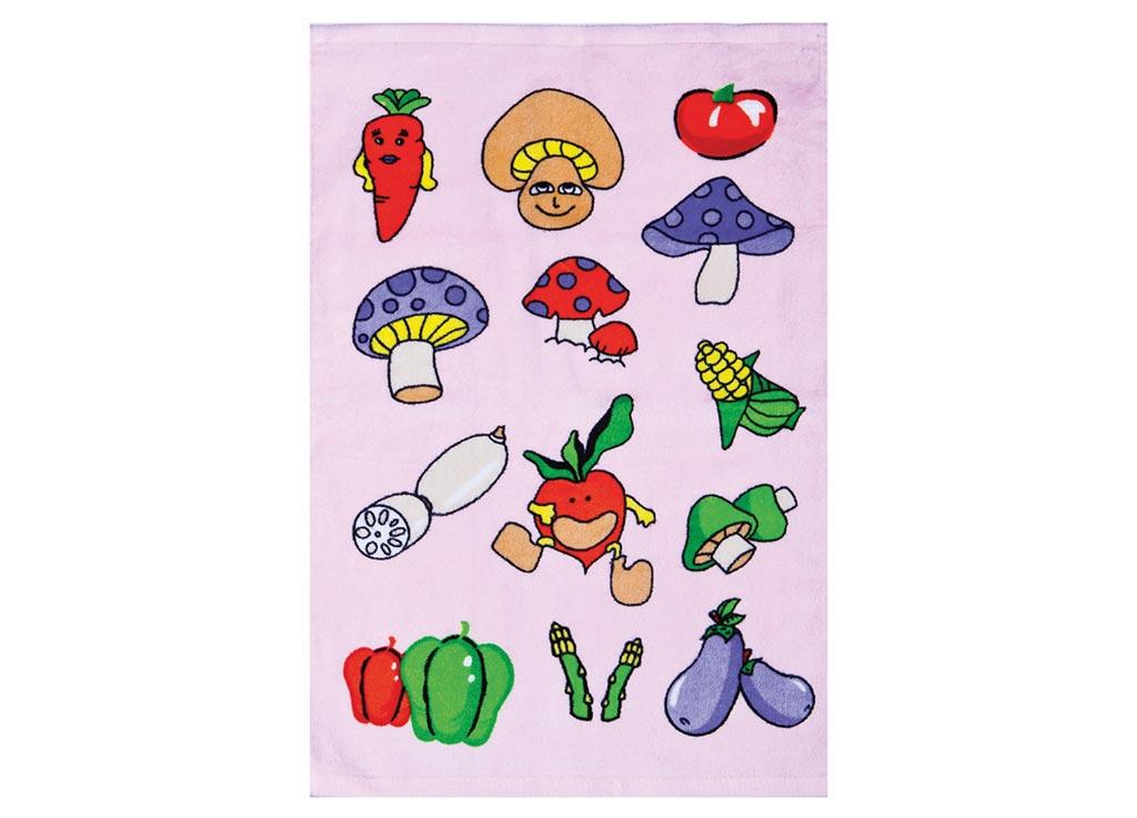 Полотенце Soavita Грибы, 40х60 см, цвет: сиреневый87424Перед использованием постирать при температуре не выше 40 градусов