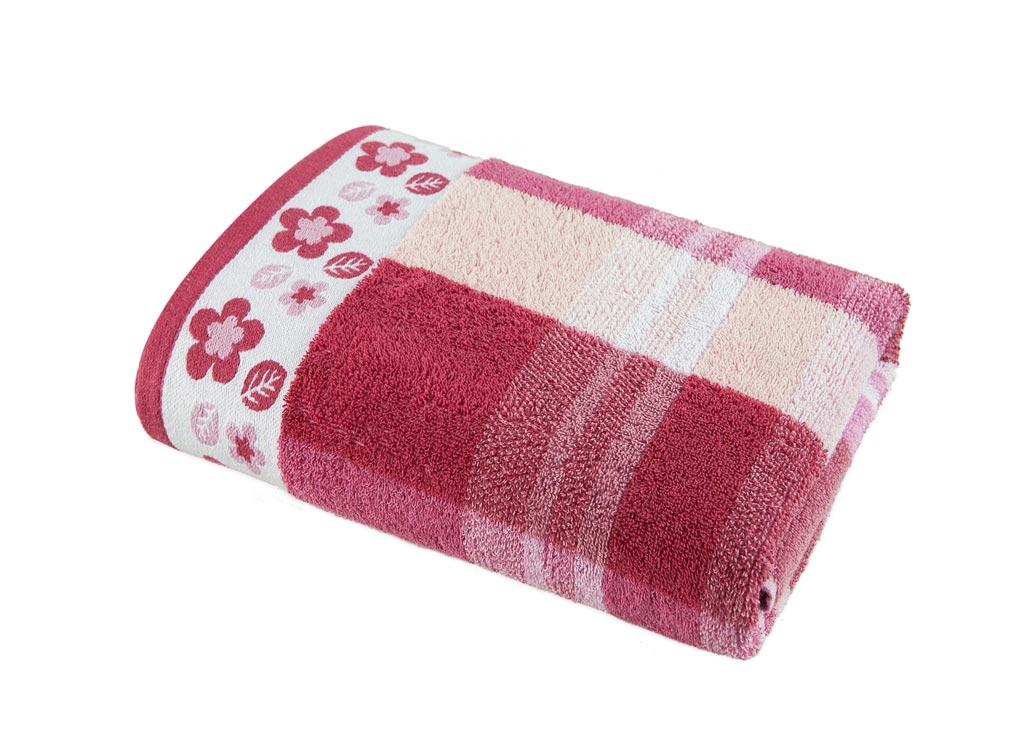 Полотенце Soavita Premium Renata, 48х90 см, цвет: бордовый87426Перед использованием постирать при температуре не выше 40 градусов