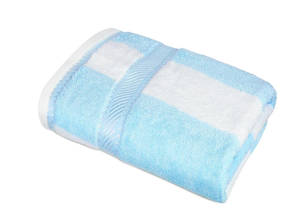 Полотенце Soavita Premium Полосы, 34х76 см, цвет: голубой87436Перед использованием постирать при температуре не выше 40 градусов