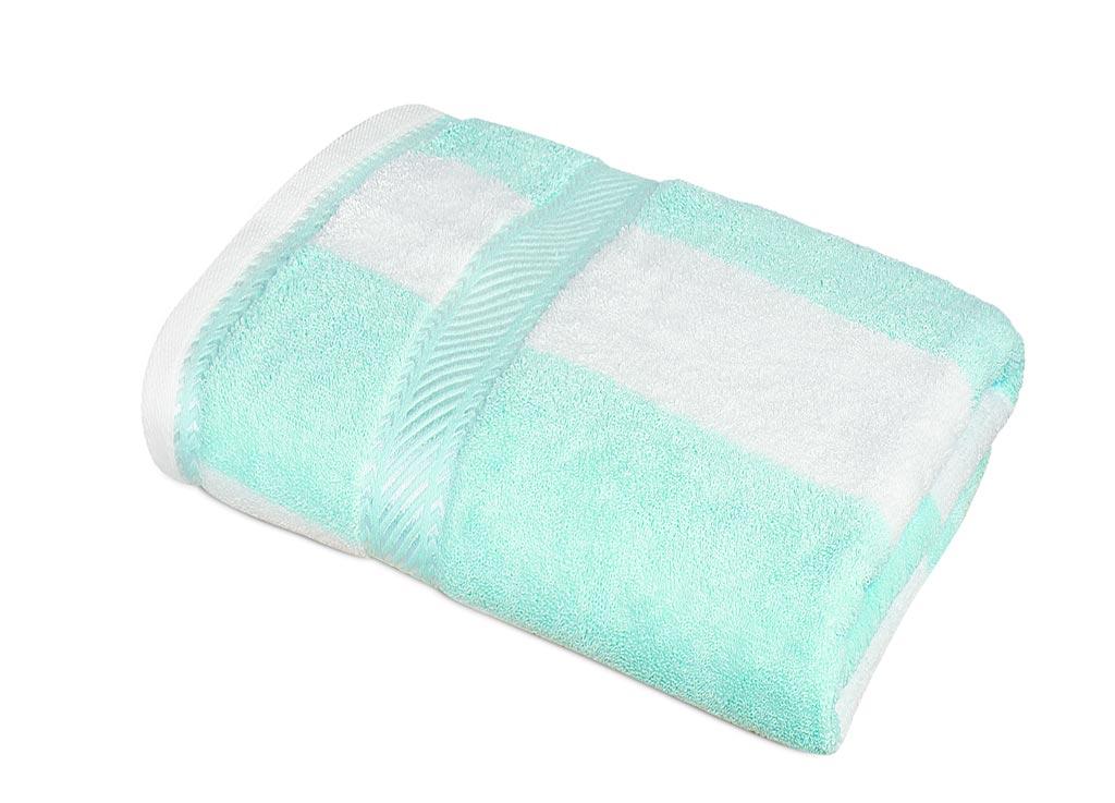 Полотенце Soavita Premium. Полосы, цвет: светло-бирюзовый, белый, 65 х 135 см87441Банное полотенце Soavita Premium. Полосы выполнено из 100% натурального, экологически чистого хлопка. Полотенце очень практично и неприхотливо в уходе. Оно отлично впитывает влагу, быстро сохнет, сохраняет яркость цвета и не теряет форму после многократных стирок. Такое полотенце Soavita идеально дополнит интерьер вашей ванной комнаты и создаст атмосферу уюта и комфорта.