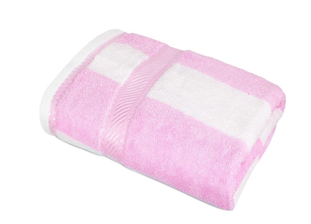 Полотенце Soavita Premium Полосы, 65х135 см, цвет: розовый87443Перед использованием постирать при температуре не выше 40 градусов