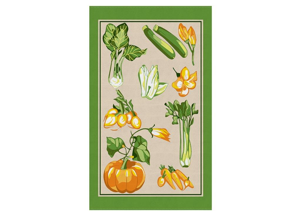 Полотенце Soavita Тыква, 30х50 см, цвет: зеленый87446Перед использованием постирать при температуре не выше 40 градусов