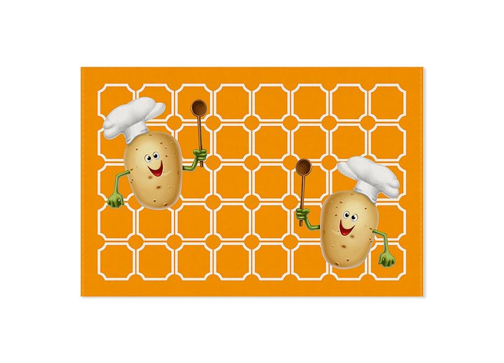 Полотенце кухонное Soavita Картошка, 40 х 60 см87449Кухонное полотенце Soavita Картошка выполнено из 100% хлопка и оформлено оригинальным рисунком. Оно отлично впитывает влагу, быстро сохнет, сохраняет яркость цвета и не теряет форму даже после многократных стирок. Изделие предназначено для использования на кухне и в столовой. Такое полотенце станет отличным вариантом для практичной и современной хозяйки.