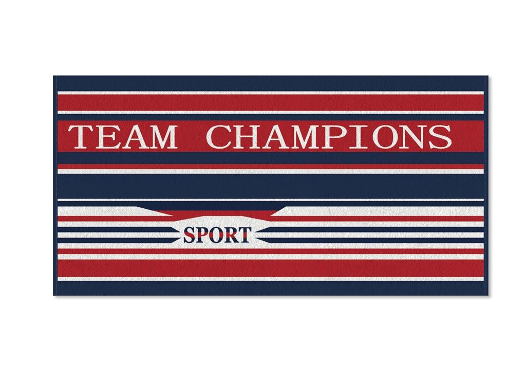 Полотенце Soavita Premium Team Champions, 70х140 см, цвет: красный, синий, белый87455Перед использованием постирать при температуре не выше 40 градусов