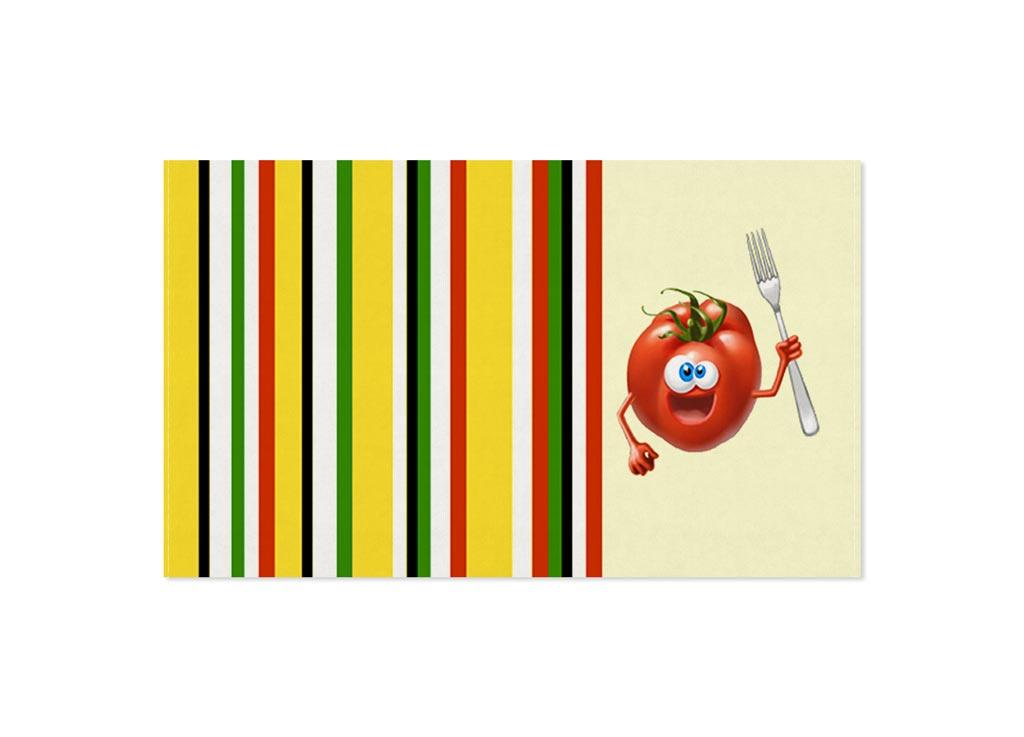 Полотенце Soavita Томат, 30х50 см, цвет: кремовый, желтый87462Перед использованием постирать при температуре не выше 40 градусов