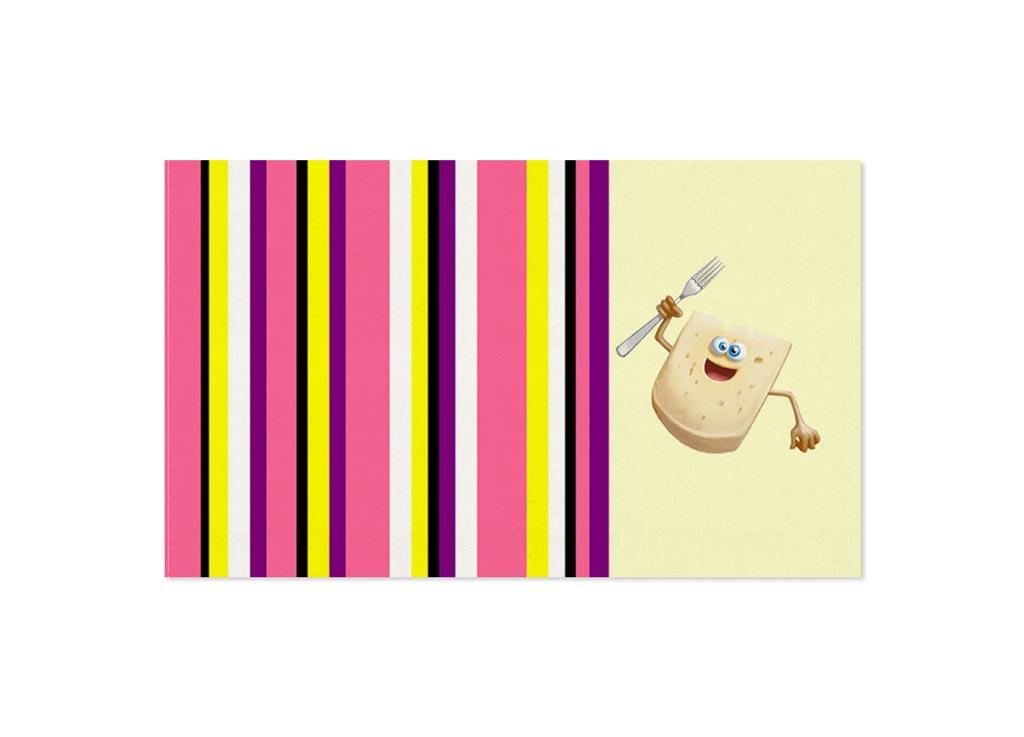 Полотенце Soavita Сыр, 30х50 см, цвет: кремовый, розовый87464Перед использованием постирать при температуре не выше 40 градусов