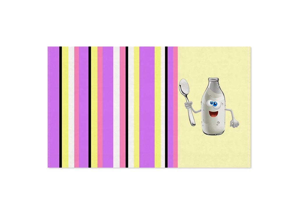 Полотенце Soavita Молоко, 30х50 см, цвет: кремовый, сиреневый87466Перед использованием постирать при температуре не выше 40 градусов