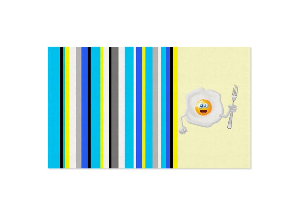 Полотенце Soavita Яйцо, 30х50 см, цвет: кремовый, бирюза87467Перед использованием постирать при температуре не выше 40 градусов