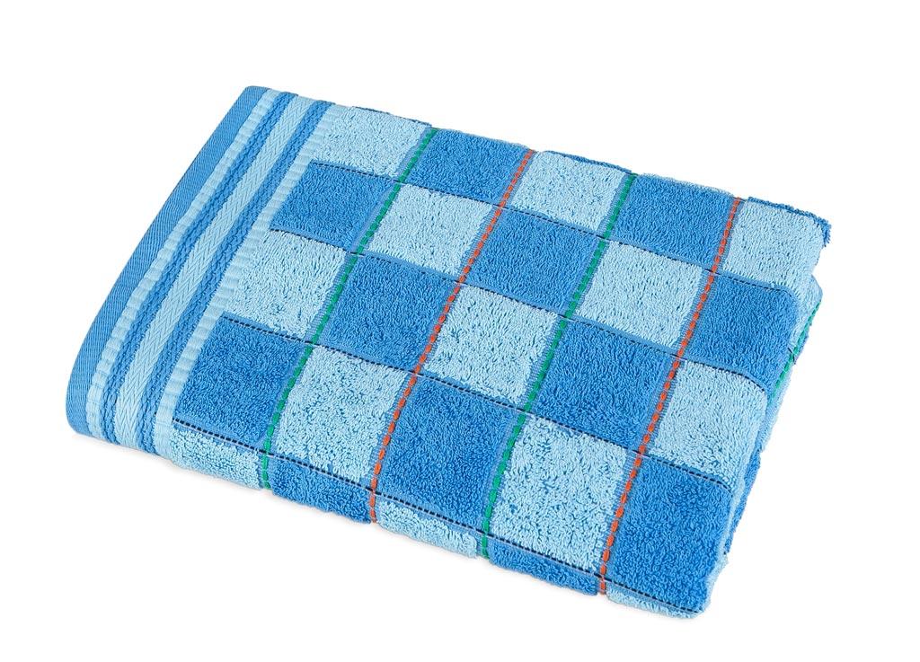 Полотенце Soavita Premium Шахматы, 33х74 см, цвет: синий87474Перед использованием постирать при температуре не выше 40 градусов