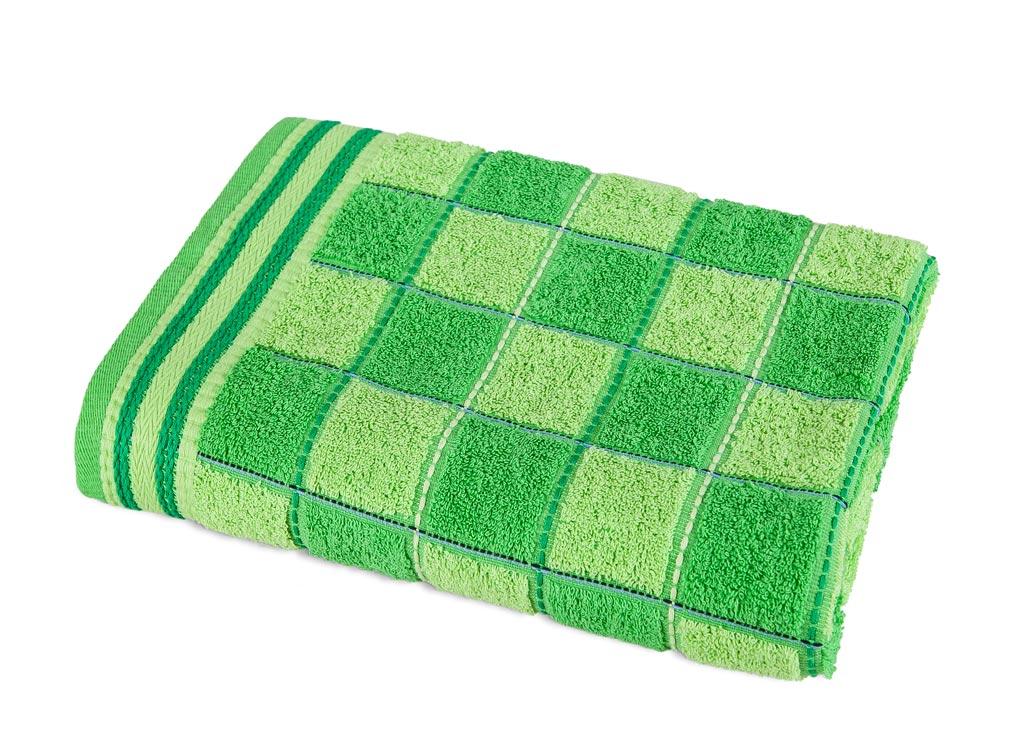 Полотенце Soavita Premium Шахматы, 68х135 см, цвет: зеленый87479Перед использованием постирать при температуре не выше 40 градусов