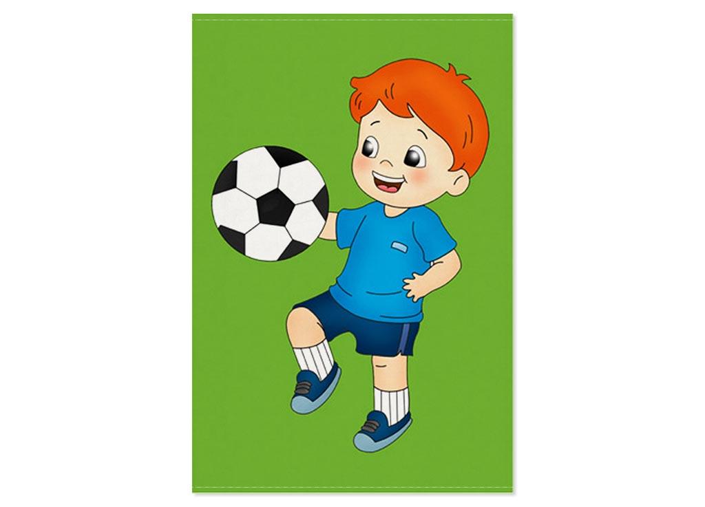Полотенце Soavita Premium Футбол, 40х60 см, цвет: зеленый87482Перед использованием постирать при температуре не выше 40 градусов