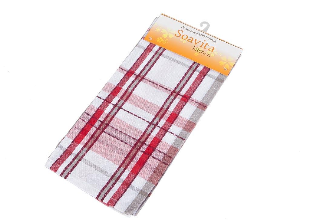 Полотенце кухонное Soavita Клеточка, цвет: белый, красный, розовый, 45 х 65 см87489Кухонное полотенце Soavita Клеточка, выполненное из 100% хлопка, оформлено клетчатым рисунком. Изделие предназначено для использования на кухне и в столовой. Высочайшее качество материала гарантирует безопасность использования, высокую износостойкость и долгий срок службы. Такое полотенце станет отличным вариантом для практичной и современной хозяйки. Рекомендуется стирка при температуре 40°C.