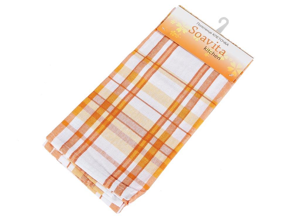 Полотенце кухонное Soavita Клеточка, цвет: белый, оранжевый, желтый, 45 х 65 см87490Кухонное полотенце Soavita Клеточка, выполненное из 100% хлопка, оформлено клетчатым рисунком. Изделие предназначено для использования на кухне и в столовой. Высочайшее качество материала гарантирует безопасность использования, высокую износостойкость и долгий срок службы. Такое полотенце станет отличным вариантом для практичной и современной хозяйки. Рекомендуется стирка при температуре 40°C.