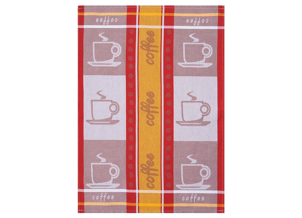 Полотенце кухонное Soavita Coffee, цвет: красный, желтый, коричневый, 50 х 70 см87494Кухонное полотенце Soavita Apple выполнено из высококачественного 100% хлопка, а также оформлено изображением яблок и цветочным узором. Изделие предназначено для использования на кухне и в столовой. Такое полотенце станет отличным вариантом для практичной и современной хозяйки. Перед использованием постирать при температуре не выше 40 градусов.