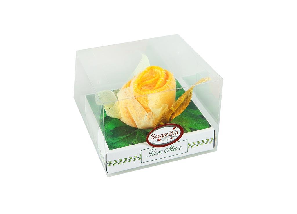 Салфетка Soavita Бутон, 20х20 см, цвет: желтый87518Перед использованием постирать при температуре не выше 40 градусов