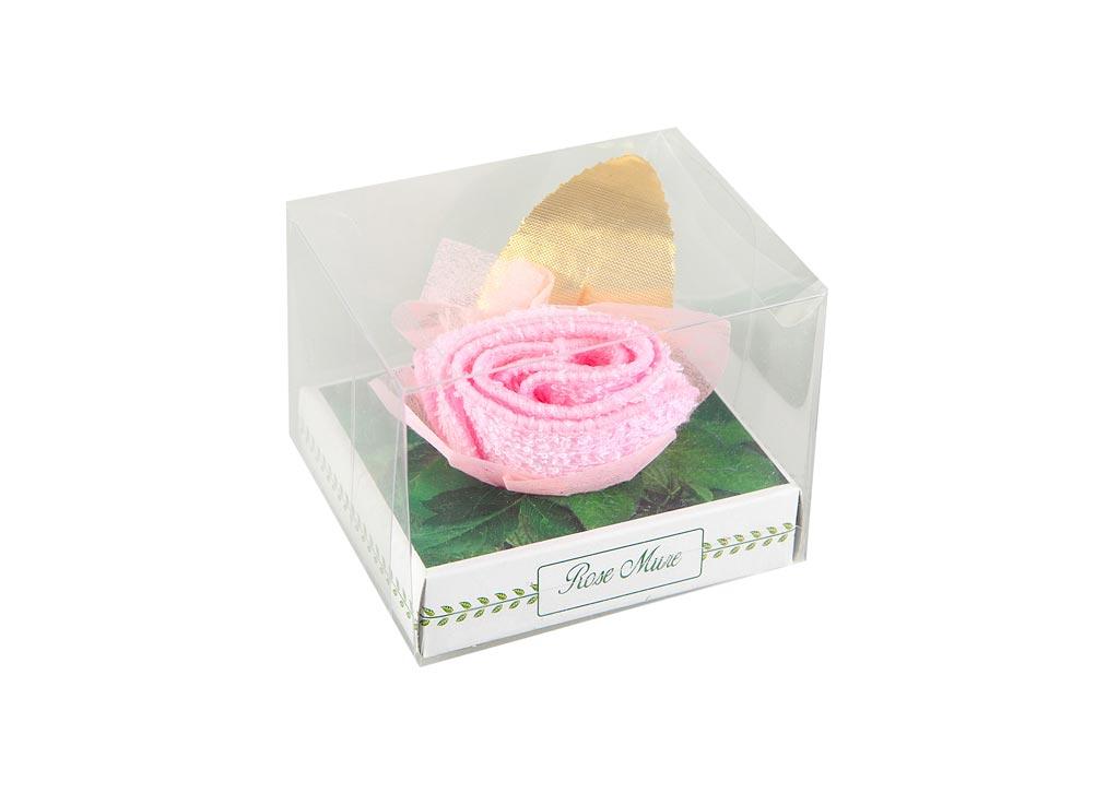 Салфетка Soavita Бутон, 20х20 см, цвет: розовый87520Перед использованием постирать при температуре не выше 40 градусов