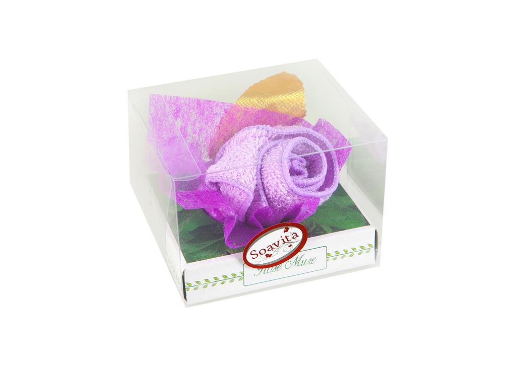 Салфетка Soavita Бутон, 20х20 см, цвет: сиреневый87522Перед использованием постирать при температуре не выше 40 градусов