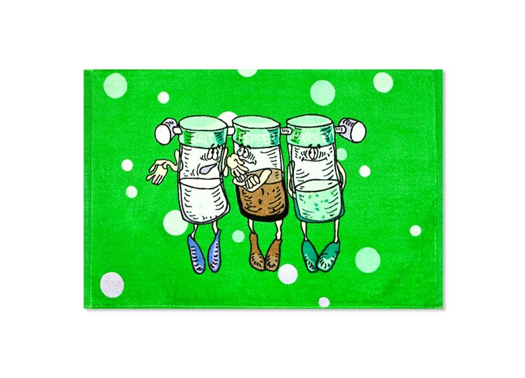 Полотенце Soavita Специи, 40х60 см, цвет: зеленый87530Перед использованием постирать при температуре не выше 40 градусов