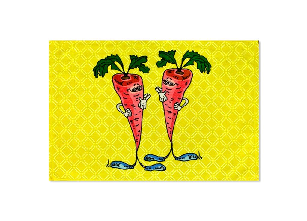 Полотенце Soavita Морковь, 40х60 см, цвет: желтый87531Перед использованием постирать при температуре не выше 40 градусов