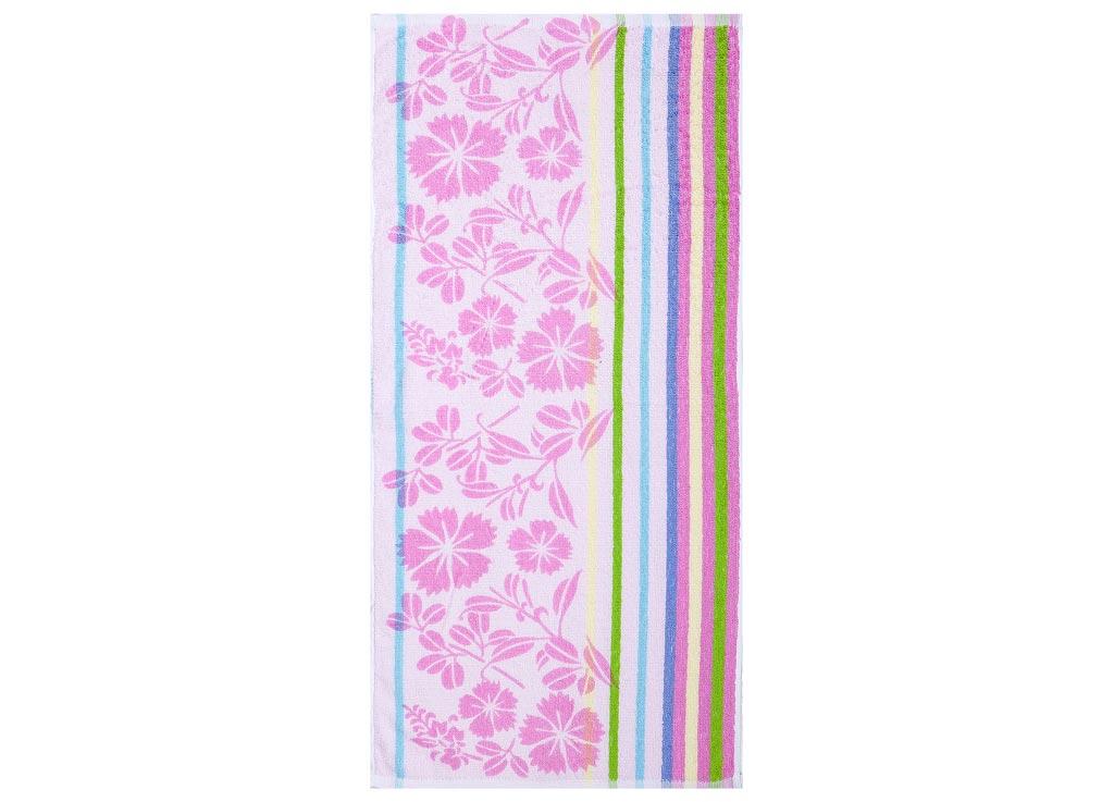 Полотенце Soavita Premium Василек, 33х76 см, цвет: розовый87539Перед использованием постирать при температуре не выше 40 градусов