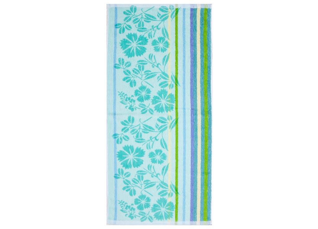 Полотенце Soavita Premium Василек, 33х76 см, цвет: бирюза87541Перед использованием постирать при температуре не выше 40 градусов