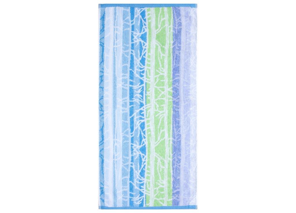 Полотенце Soavita Premium Интер, 60х120 см, цвет: голубой, зеленый87553Перед использованием постирать при температуре не выше 40 градусов