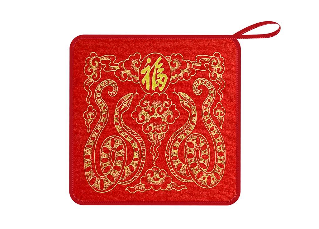 Салфетка Soavita, 30х30 см, цвет: красный, желтый87Перед использованием постирать при температуре не выше 40 градусов