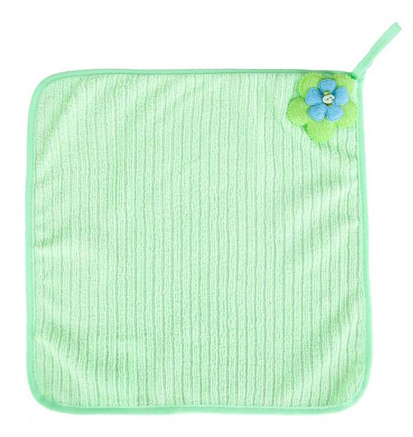 Салфетка Soavita Цветок, 30х30 см, цвет: зеленый87572Перед использованием постирать при температуре не выше 40 градусов