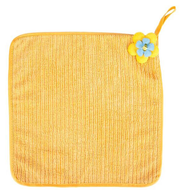 Салфетка кухонная Soavita Цветок, цвет: желтый, 30 х 30 см87573Салфетка Soavita Цветок выполнена из микрофибры и декорирована нежным цветком. Идеально подходит для сухой и влажной чистки. Полностью удаляет воду, не оставляя следа. Превосходит все традиционные аналоги салфеток. В сухом виде подходит для деликатных поверхностей: стекол, зеркал, оптики, мониторов, мебели, бытовой техники и многого другого. Во влажном виде незаменима на кухне, в ванной, в уходе за автомобилем. Изделие оснащено петелькой для подвешивания на крючок. Салфетка создаст прекрасное настроение и украсит интерьер вашей кухни, а также прекрасно подойдет в качестве приятного презента. Перед использованием постирать при температуре не выше +40°С.